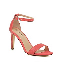 Call It Spring - Peach 'Ahlberg' high stiletto heel ankle strap sandals
