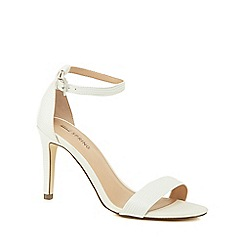 Call It Spring - White 'Ahlberg' high stiletto heel ankle strap sandals