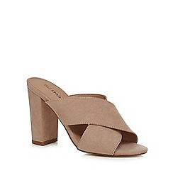 Call It Spring - Light pink 'Forland' high block heel mule sandals