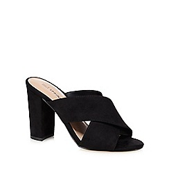 Call It Spring - Black 'Forland' high block heel mule sandals