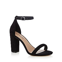 Call It Spring - Black 'Brelawien' high block heel ankle strap sandals