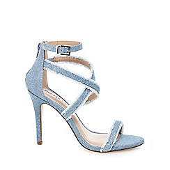 Call It Spring - Light blue 'Timothya' high stiletto ankle strap sandals