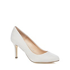 Call It Spring - Light grey suedette 'Tukums' high stiletto heel court shoes