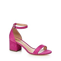 Call It Spring - Dark pink 'Borewiel' mid block heel ankle strap sandals