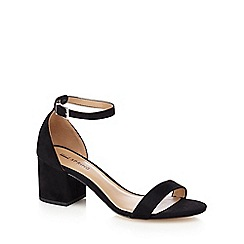 Call It Spring - Black 'Borewiel' mid block heel ankle strap sandals