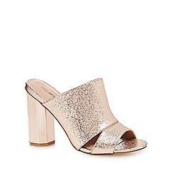 Call It Spring - Light pink 'Portlock' high block heel mules