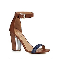 Call It Spring - Brown 'Terraseo' high block heel ankle strap sandals
