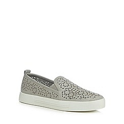 Call It Spring - Light grey suedette 'Uladowia' slip-on trainers