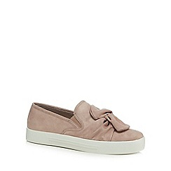 Call It Spring - Light pink suedette 'Camber' slip-on trainers
