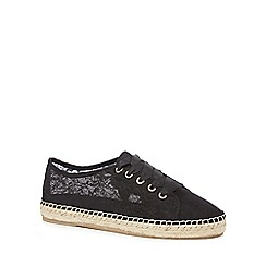 Call It Spring - Black lace 'Brausien' trainers