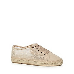 Call It Spring - Taupe lace 'Brausien' trainers