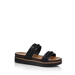 Call It Spring - Black 'Rosceto' mid platform heel mules