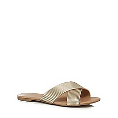Call It Spring - Gold 'Cirawen' slip on sandals