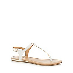 Call It Spring - White 'Blinder' T-bar sandals