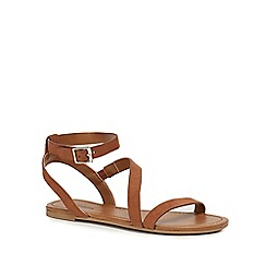Call It Spring - Tan 'Agroerwen' ankle strap sandals