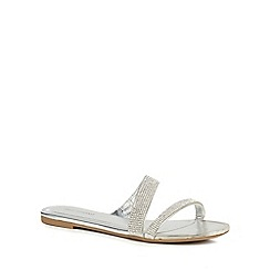 Call It Spring - Silver diamante 'Stranahan' flip flops