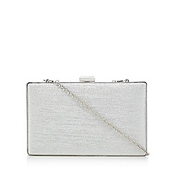 Call It Spring - Silver glitter box clutch