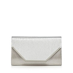Call It Spring - Two-tone Silver 'Sanluca' clutch bag