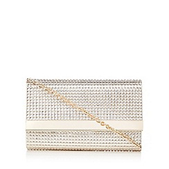 Call It Spring - Gold Niceville' diamante clutch bag