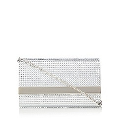 Call It Spring - Silver 'Niceville' diamante clutch bag
