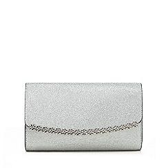 Call It Spring - Silver 'Pricia' daisy clutch bag