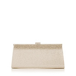 Call It Spring - Gold diamante trim clutch bag