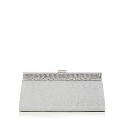 Call It Spring - Silver diamante trim clutch bag