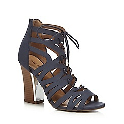 Call It Spring - Navy 'Tavernelle' high block heel gladiator sandals