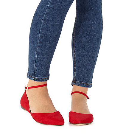 Faith - Red wide fit +Al+ flat shoes