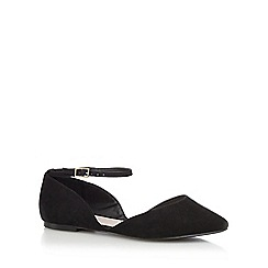 Faith - Black wide fit 'Al' flat shoes