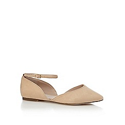 Faith - Cream suedette 'Al' wide fit ankle strap sandals
