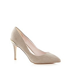 Faith - Grey suedette 'Coleen' high stiletto heel pointed shoes