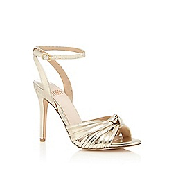Faith - Gold 'Drama' high stiletto heel ankle strap sandals