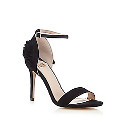 Faith - Black suedette 'Duffy' high stiletto heel ankle strap sandals
