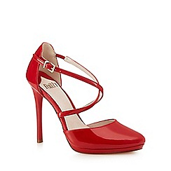 Faith - Red 'Clara' high heel court shoes