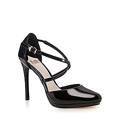 Faith - Black 'Clara' high heel court shoes
