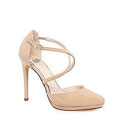 Faith - Natural 'Clara' high heel court shoes