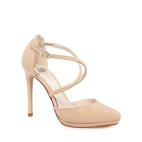 Faith - Natural +Clara+ high stiletto heel court shoes