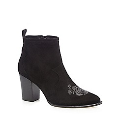 Faith - Black 'Brodidery' high ankle boots