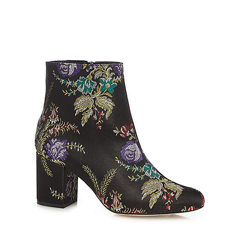 Faith - Multi-coloured +Brocade+ embroidered ankle boots