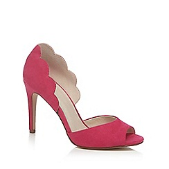 Faith - Pink suedette 'Lisa' high stiletto heel peep toe shoes