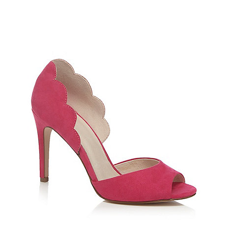 Faith - Pink suedette +Lisa+ high stiletto heel peep toe shoes