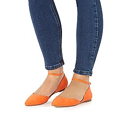 Faith - Orange 'Ali' suede shoes
