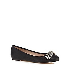 Faith - Black 'Annie' jewel embellished shoes