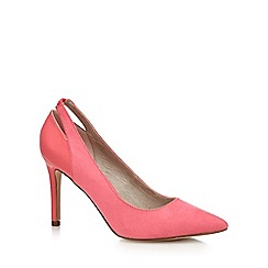 Faith - Pink suedette 'Callie' high heel court shoes