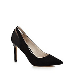 Faith - Black suedette 'Callie' high heel court shoes