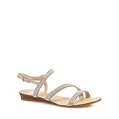 Faith - Silver diamante 'Jolly' ankle strap sandals
