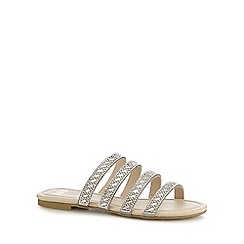 Faith - Silver diamante 'Justine' ankle strap sandals