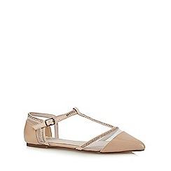 Faith - Pale pink 'Arianna' T-bar pumps