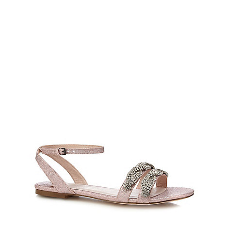 Faith - Pink glitter +Jenga+ comfort fit ankle strap sandals